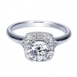 Gabriel 14 Karat Contemporary Engagement Ring ER8020W44JJ