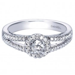 Gabriel 14 Karat Contemporary Engagement Ring ER95410W44JJ