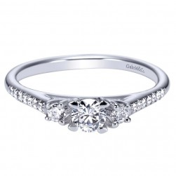 Gabriel 14 Karat Contemporary Engagement Ring ER95412W44JJ