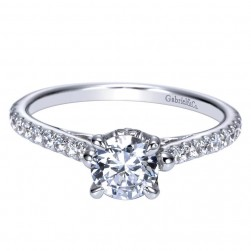 Gabriel 14 Karat Contemporary Engagement Ring ER98529W44JJ
