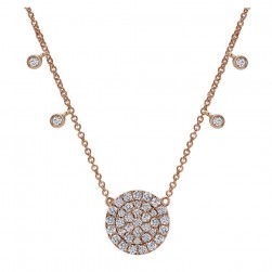 Gabriel Fashion 14 Karat Pave Necklace NK4949K45JJ