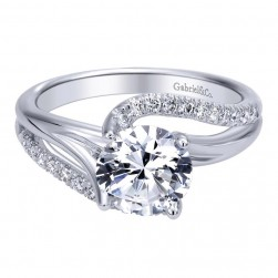 Gabriel 14 Karat Contemporary Engagement Ring ER10196W44JJ