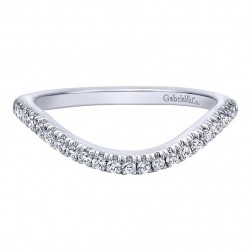 Gabriel 14 Karat Contemporary Wedding Band WB10093W44JJ
