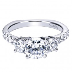 Gabriel 14 Karat Contemporary Engagement Ring ER4248W44JJ