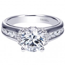 Gabriel 14 Karat Contemporary Engagement Ring ER8893W44JJ