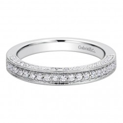 Gabriel 14 Karat Contemporary Wedding Band WB9477W44JJ