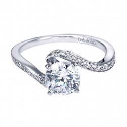 Gabriel 14 Karat Contemporary Engagement Ring ER6975W44JJ