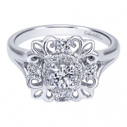 Gabriel 14 Karat Contemporary Engagement Ring ER910101W44JJ