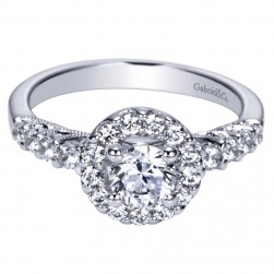 Gabriel 14 Karat Contemporary Engagement Ring ER98150W44JJ
