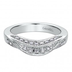 Gabriel 14 Karat Contemporary Wedding Band WB9269W44JJ