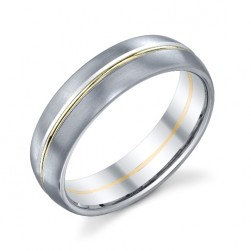 272889 Christian Bauer Platinum & 18 Karat Wedding Ring / Band