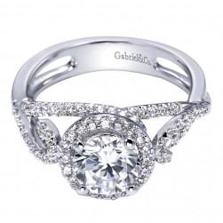 Gabriel 14 Karat Contemporary Engagement Ring ER5721W44JJ