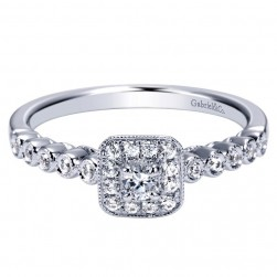 Gabriel 14 Karat Contemporary Engagement Ring ER98725W44JJ