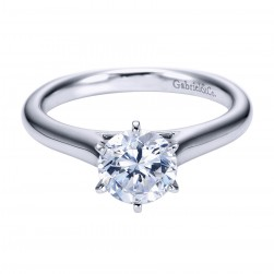 Gabriel Platinum Contemporary Engagement Ring ER6623PTJJJ