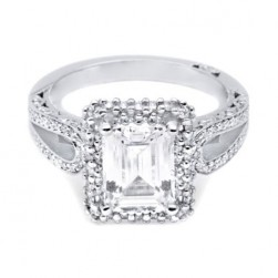 HT2518EC85X65 Tacori Crescent 18 Karat Engagement Ring