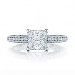 HT2553PR7 Platinum Tacori Classic Crescent Engagement Ring
