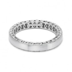 Tacori HT2287 Platinum Crescent Wedding Band
