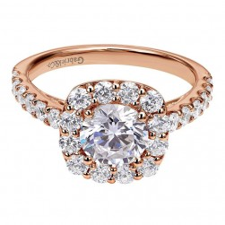Gabriel 14 Karat Contemporary Engagement Ring ER7480K44JJ