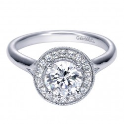 Gabriel 14 Karat Contemporary Engagement Ring ER7812W44JJ