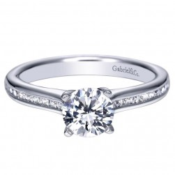 Gabriel 14 Karat Contemporary Engagement Ring ER7991W44JJ