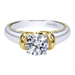 Gabriel 14 Karat Contemporary Engagement Ring ER9023M4JJJ