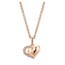 Gabriel Fashion 14 Karat Eternal Love Heart Necklace NK4617K45JJ