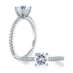 A.JAFFE Platinum Classic Engagement Ring ME1774
