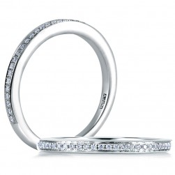 A.JAFFE Seasons of Love Collection Classic Platinum Diamond Wedding Ring MR1585 / 12