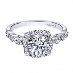 Gabriel 14 Karat Contemporary Engagement Ring ER7736W44JJ