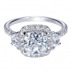 Gabriel 14 Karat Contemporary Engagement Ring ER9189W44JJ
