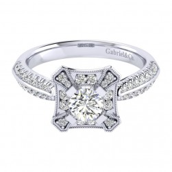 Gabriel 14 Karat Perfect Match Engagement Ring ER002A2AEW44JJ