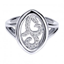 Gabriel Fashion Silver Contemporary Ladies' Ring LR6836SV5JJ