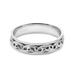 Tacori 18 Karat Hand Engraved Wedding Band HT2404