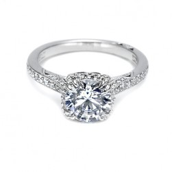Tacori Platinum Dantela Engagement Ring 2620RDMNP