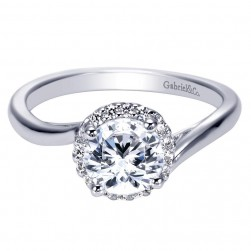 Gabriel 14 Karat Contemporary Engagement Ring ER7823W44JJ