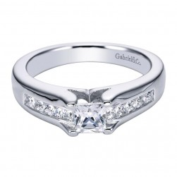 Gabriel 14 Karat Contemporary Engagement Ring ER93909W44JJ