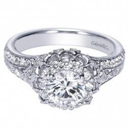 Gabriel 14 Karat Contemporary Engagement Ring ER98588W44JJ