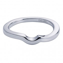 Gabriel 14 Karat Contemporary Wedding Band WB6056W4JJJ