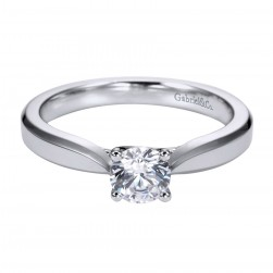 Gabriel Platinum Contemporary Engagement Ring ER6590PTJJJ
