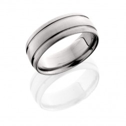 Lashbrook 8D21W CROSS BRUSH Titanium Wedding Ring or Band