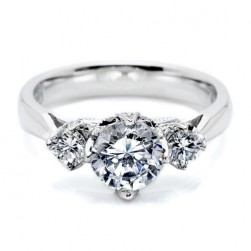 Tacori 18 Karat Simply Tacori Engagement Ring HT2314