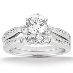 Taryn Collection Platinum Diamond Engagement Ring TQD A-8511