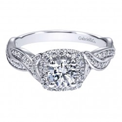 Gabriel 14 Karat Contemporary Engagement Ring ER911864R0W44JJ