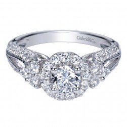 Gabriel 14 Karat Contemporary Engagement Ring ER98583W44JJ