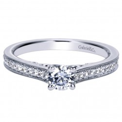 Gabriel 14 Karat Contemporary Engagement Ring ER98673W44JJ