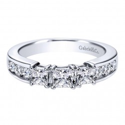 Gabriel 14 Karat Contemporary Wedding Band WB3677W44JJ