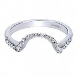 Gabriel 14 Karat Contemporary Wedding Band WB4350W44JJ