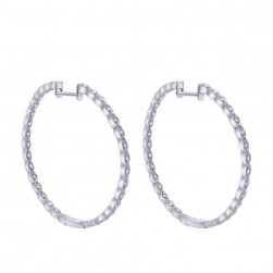 Gabriel Fashion 14 Karat Hoops Classic Earrings EG10379W45JJ