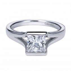Gabriel Platinum Contemporary Engagement Ring ER8074PTJJJ