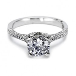 Tacori Crescent Platinum Engagement Ring 2561RD7
